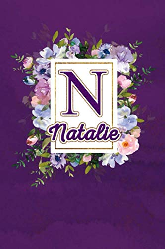 N - Natalie: Monogram initial N for Natalie notebook / Journal: Personalized Name Letter gifts for girls, women & men : School gifts for kids & ... 6x9 Classy Purple Gold Floral Mosaic Finish)
