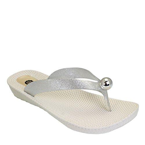 Tiana Marie - Zapatos con tacón mujer plata