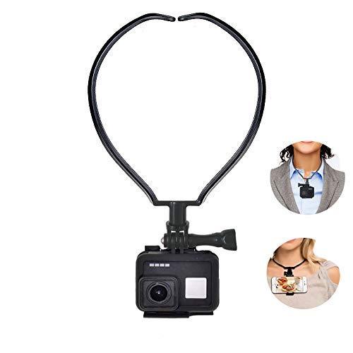 ShipeeKin Cuello Soporte Cuello Cuello tel/éfono Soporte Manos Libres para GoPro Hero Serie C/ámara transmisi/ón en Vivo Ideal para Deportes grabaci/ón de v/ídeo de Cocina