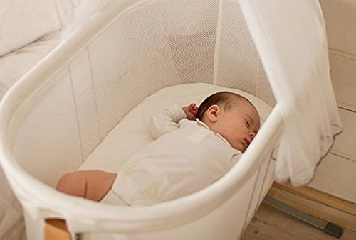 Made to fit BabyBjorn cradle Organic bamboo sheet Size 29'' x 14''- Hypoallergenic -Thermal regulating - Moisture Wicking - Wash in Cold water/Tumble - Oval Thermal