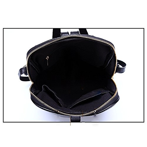 Anne - Bolso mochila  de Piel para mujer negro Red Red