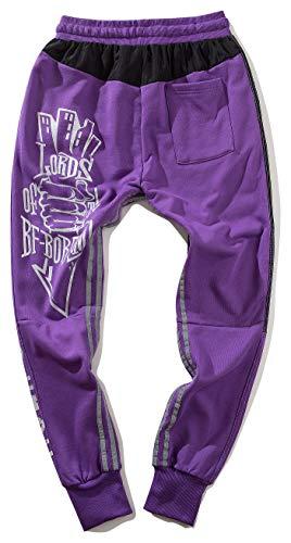 à coton pour violet Al102 en harem hommes la côtelé mode pour coton Pantalon de jogging de de Pizoff qX8SxHx