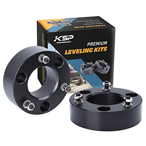 """KSP Lift Kit Front 2"""" Aircraft Billet Strut Spacers Leveling Lift Kit for Ford F150 2X2 4X4 2004-2019 Expedition 2003-2018 Raise The Front F150 Pickup 2"""" 2004-2019 2WD 4WD"""