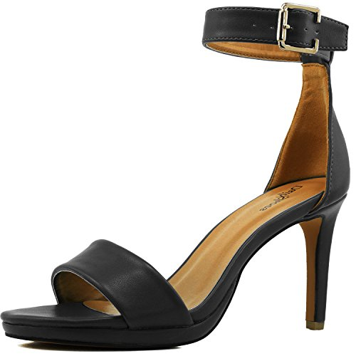 Women's High Heel Open Toe Ankle Buckle Strap Platform Evening Dress Casual (4in Sexy High Heel Shoe)