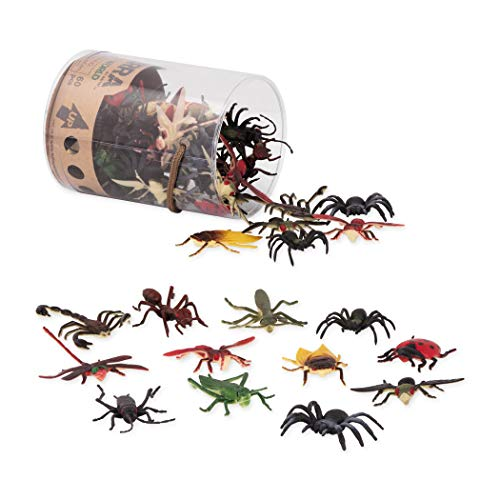 Terra by Battat - Insect World - Assorted Miniature Plastic Insect Toys & Cake Toppers for Kids 3+ (60 Pc) -