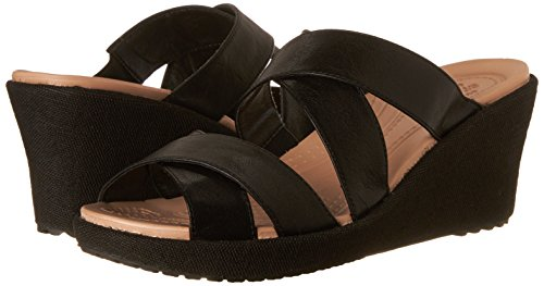 Pictures of Crocs Women's A Leigh Crisscross W Wedge Sandal 9 M US 4