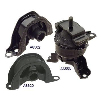 Amazon.com: 1996 2000 Honda Civic 1.6L Front Engine Motor Mount Kit 3PCS  A6502 A6520 A6556: Automotive