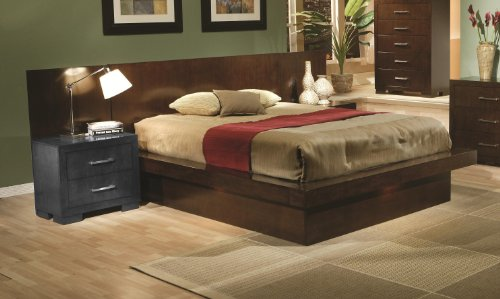 platform bed light cappuccino finish