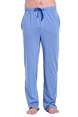 CYZ Men's 100% Cotton Jersey Knit Pajama Pants/Lounge Pants