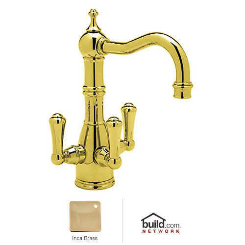 (Rohl U.KIT1474LS-IB-2 Perrin and Rowe Triple Handle Filtering Bar Faucet with Metal, Inca Brass )