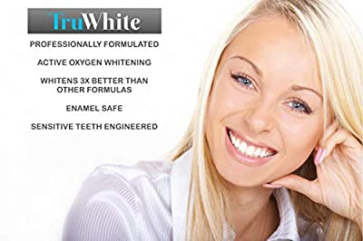 TrueWhite Teeth Whitening Pen - Active Oxygen & Carbamide Peroxide, 30+ Treatments, 4ML, Zero Sensitivity & Professionally Formulated