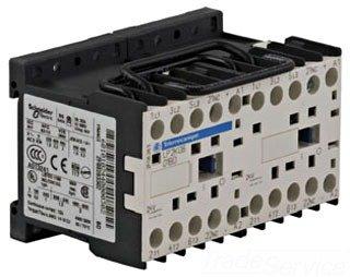 LP2K0601BD3 SQUARE D TELEMECANIQUE 3 POLE, REVERSING CONTACTOR 24V DC 4HP-480V, 202kW-380/415V 3P