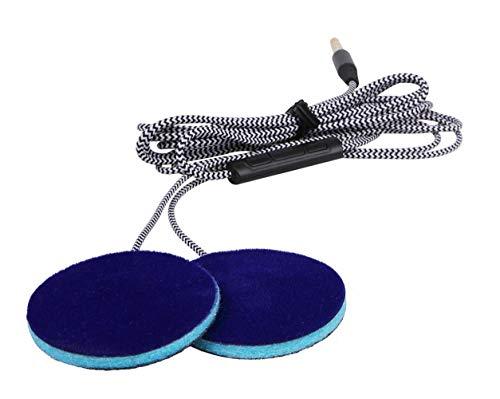 Sleep Ultra Thin Pillow Speakers with Mic, Control Button for Sleep Headphones. Headband Headphone Replacement MMUSS (Best Earbuds For Ski Helmet)