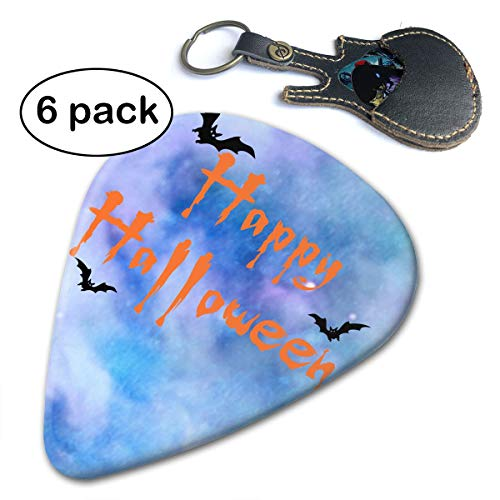 JAWANNA Happy Halloween Guitar Picks, 351 Shape Classic Picks (6 Pack) Celluloid Unique and Stylish Design, for Guitar Bass Includes Thin, Medium & Heavy Gauges