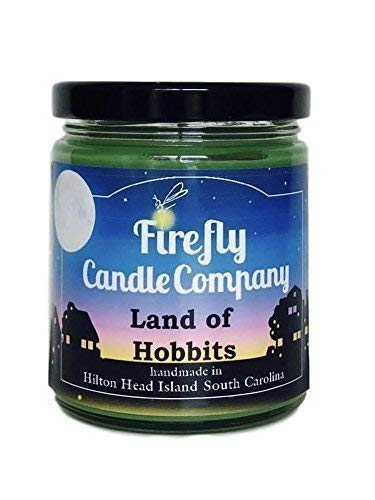The Land Of Hobbits Soy Candle- The Shire- Lord of the Rings Candle 8oz - Lord Glass Candle