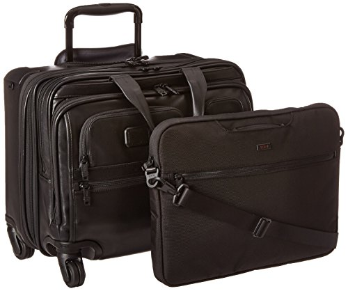 투미 Tumi Alpha Ballistic Business 4 Wheel Deluxe Brief with Laptop Cover