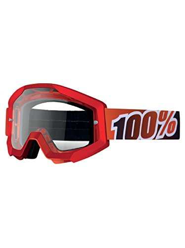 1 Center Mirror (100% STRATA Goggles Fire Red - Mirror Red Lens, One Size)