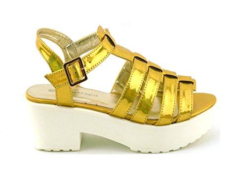 AMBASSADOR - Zapatos de tacón  mujer Dorado - dorado