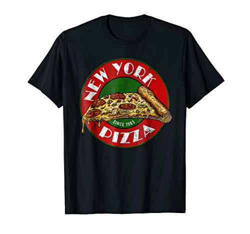 - Pizza Vintage T Shirt Gift New York Sign Italian Food Fan