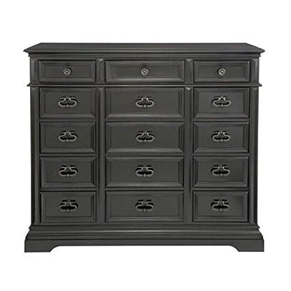 Amazoncom Dresser 15 Drawers Chest Dark Brown Wood Bedroom
