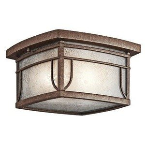 Kichler 49153AGZVM Two Light Outdoor Ceiling Mount