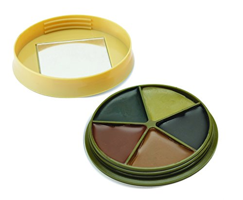 HME Products 5 Color Camo Face Paint with mirror