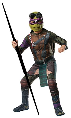 Ninja Turtle Outfits Adults (UHC Teenage Mutant Ninja Turtles Movie Theme Donatello Outfit Halloween Costume, STD (Up to 44))