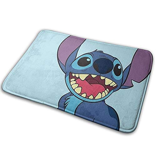 Meirdre Welcome Door Mat Lilo and Stitch Indoor Outdoor Entrance Rug Floor Mats Shoe Scraper 15.7