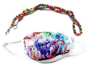 Cookiie My Little Pony kids Mask + Mask holder chain | Mask for children, Useful for playing | Cycling | Travelling | Sports