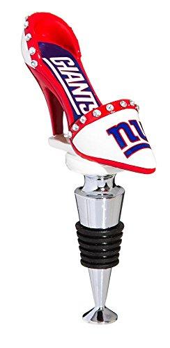 (Team Sports America NFL New York Giants High Heel Shoe Wine Bottle Stopper, Small, Multicolored )