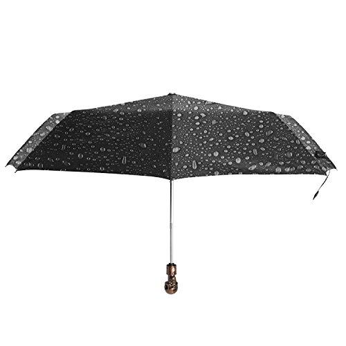 3-fold Automatic Fashion silver coated skull umbrella,Sun and Rain umbrella (skull) (black) (Skull Umbrella)