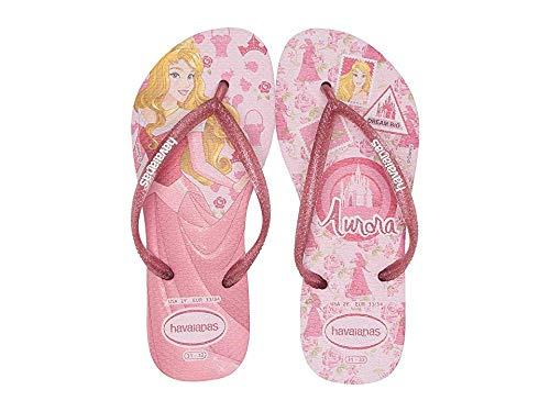 Havaianas Kids Baby Girl's Slim Princess Flip Flops (Toddler/Little Kid/Big Kid) Rose Quartz 33-34 M EU