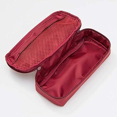 MUJI Japón Estuche de nailon para bolígrafos, color rojo, 1 unidad (19 x 8 x 4,5 cm): Amazon.es: Oficina y papelería