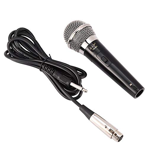 Microphone Simple Professional Wired Clear Voice Handheld Microphone for Meeting Karaoke Vocal Music