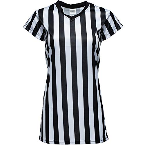 - Murray Sporting Goods Women's Black and White Stripe Referee Shirt, Official Jersey for Refs, Waitresses and More (Medium)