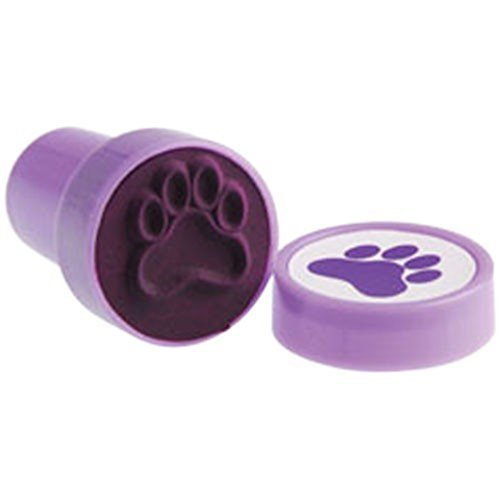 U.S. Toy Lot of 6 Purple Dog Puppy Paw Print Mini Stampers -