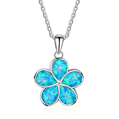 Bohemian Beach Pendant Necklace,Crytech Dainty Sterling Silver Ocean Animal Rhinestones Turtle Fishtail Seastar Dolphin Leaf Owl Charm Tennis Box Chain Necklace for Women Ladies Gift (Clover)