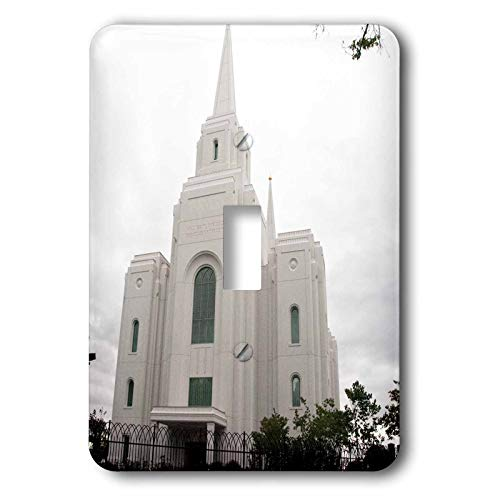 3dRose Jos Fauxtographee- Temple Brigham City Utah - The Church of Jesus Christ Holy Temple in Brigham City Utah - Light Switch Covers - single toggle switch (lsp_300176_1)
