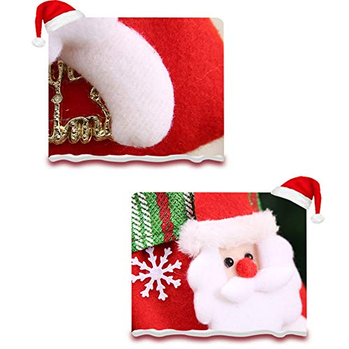 YaptheS Creative Christmas Sock Christmas Gift Candy Bag Hanging Ornament for Christmas Party Decoration Santa Claus Small Size Christmas Gift by YaptheS (Image #2)