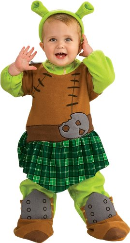 [Shrek Romper And Ears Warrior Princess Fiona, Fiona Print, Newborn] (Warrior Fiona Costumes)