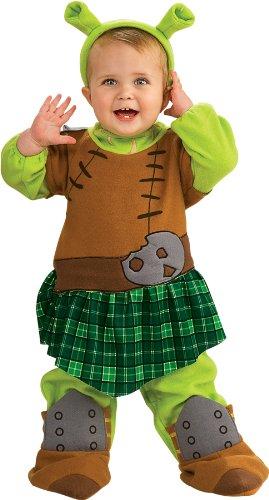 [Shrek Romper And Ears Warrior Princess Fiona, Fiona Print, Newborn] (Shrek Costume For Toddler)