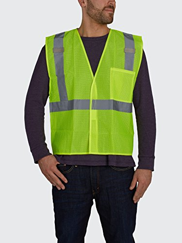 Utility Pro Men's Reflective Class 2 Safety Hi Vis Mesh Vest - Big Sizes, Yellow, 3XLarge