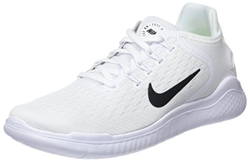 (Nike Women's Free RN 2018 Running Shoe White/Black Size 9 M US)