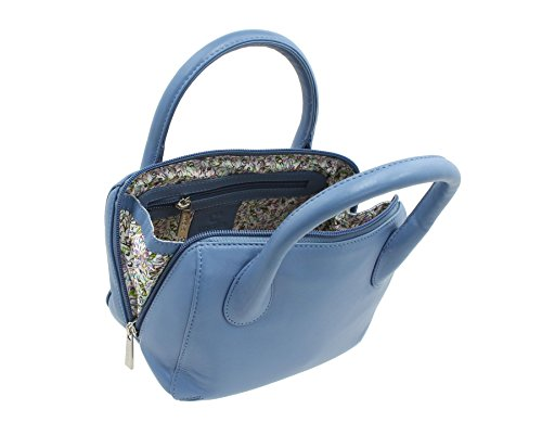 Mala Leather Cielo Blu In Collection 75 Pelle 774 Anishka A Borsa Mano ABwqqE