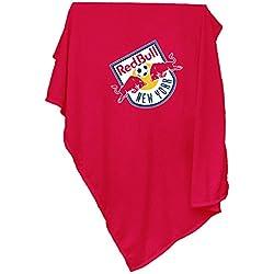 Logo Brands MLS New York Red Bulls Sweatshirt Blanket, Adult, Red