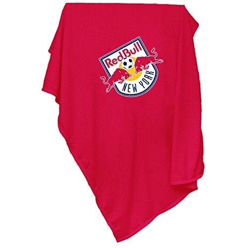 Logo Brands MLS New York Red Bulls Sweatshirt Blanket, Adult, Red by Logo Brands