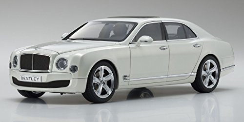 Bentley Mulsanne Speed Ghost White 1/18 Diecast Model Car by Kyosho 08910 GHW