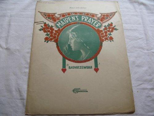 Prayer Folder - MAIDENS PRAYER BADARZEWSKA 1910 TORE SHEET MUSIC FOLDER 353 SHEET MUSIC