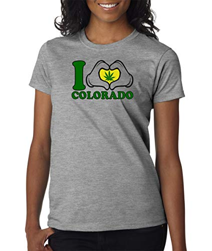 I Heart Colorado Logo Womens T Shirt Ladies Girls Cut Tee Pot Weed Stoner Chick Country Sarcastic Funny Adult Joke Clever Fun