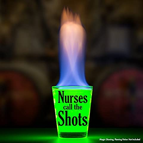 Shot Glass – Nurses Call The Shots – Makes a Great Gift Under $10 For Nurses and Medical Students!